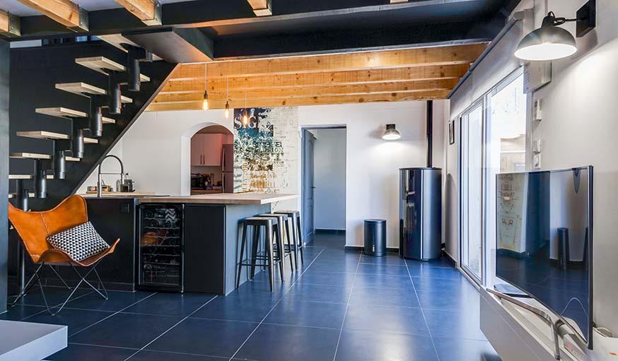 avant apr s transformer une maison en loft industriel et scandinave. Black Bedroom Furniture Sets. Home Design Ideas