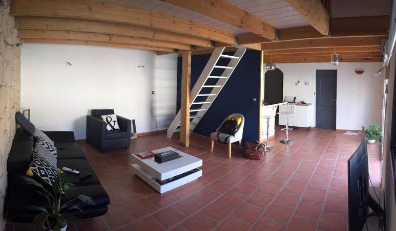 Loft avant apres share avant apres salle de sjour by we for Salon loft metz