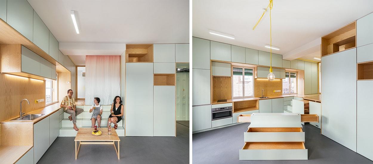 Comment optimiser l 39 espace et les rangements dans un for Rangement maison minimaliste