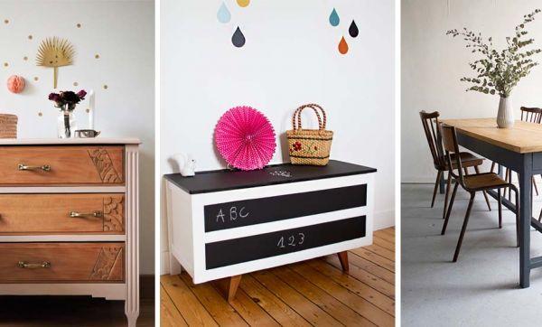 Trucs et astuces pour rénover et customiser des meubles chinés en brocante