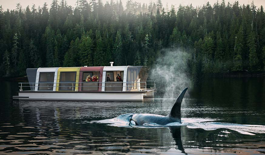 Construire une maison sur l 39 eau modulable avec le kit de max zhivov - Maison flottante ...