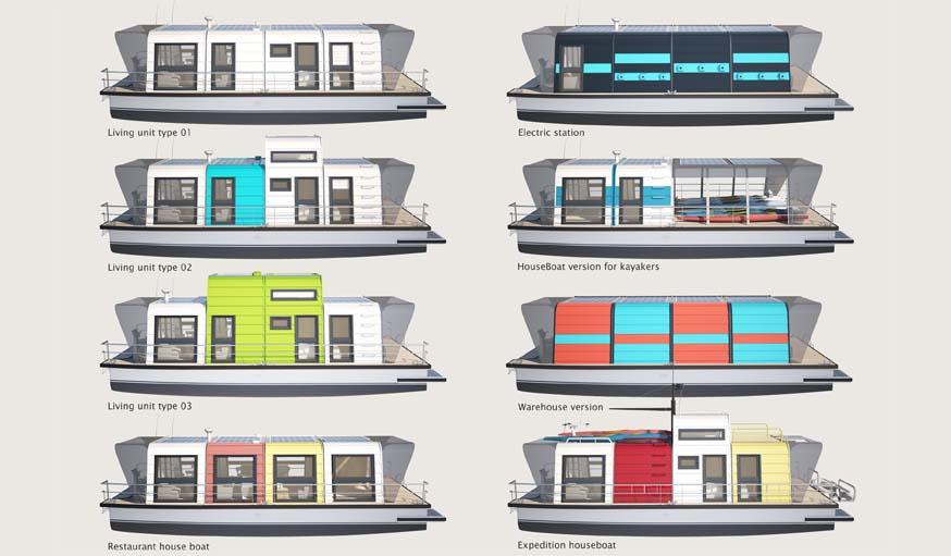 construire une maison sur l 39 eau modulable avec le kit de max zhivov. Black Bedroom Furniture Sets. Home Design Ideas