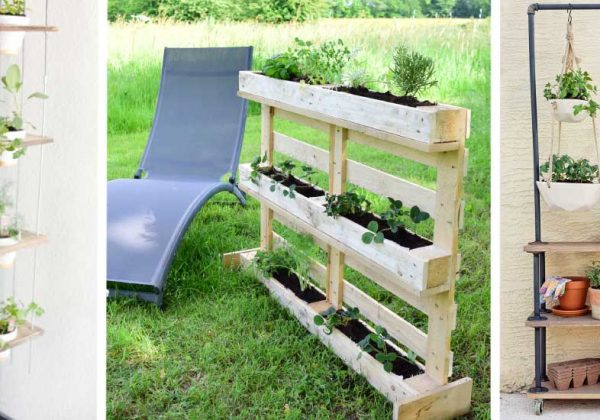 potager en palette un jardin vertical en palettes. Black Bedroom Furniture Sets. Home Design Ideas