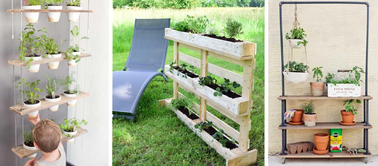 potager balcon 18 tutos pour fabriquer une jardini re verticale. Black Bedroom Furniture Sets. Home Design Ideas