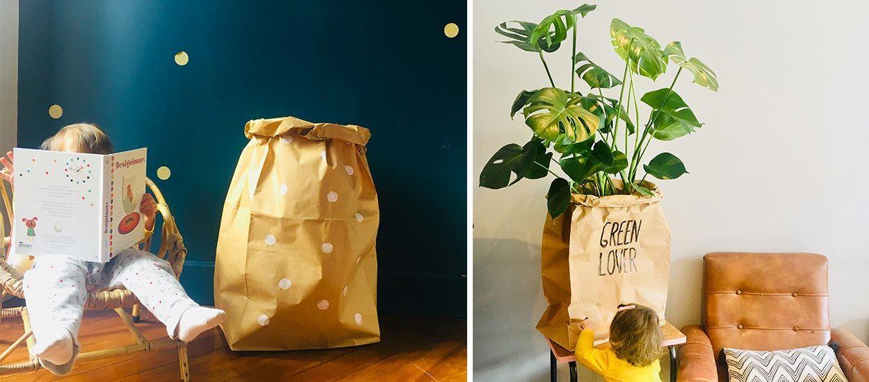 Tutoriel : Créez 5 sacs de rangement kraft tendance pour moins de 10 euros