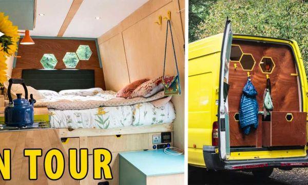 Ils ont aménagé un van tout confort qui fonctionne à l'énergie solaire
