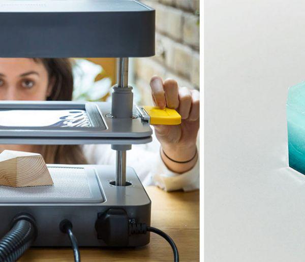 Cette petite machine permet de mouler n'importe quel petit objet en quelques secondes