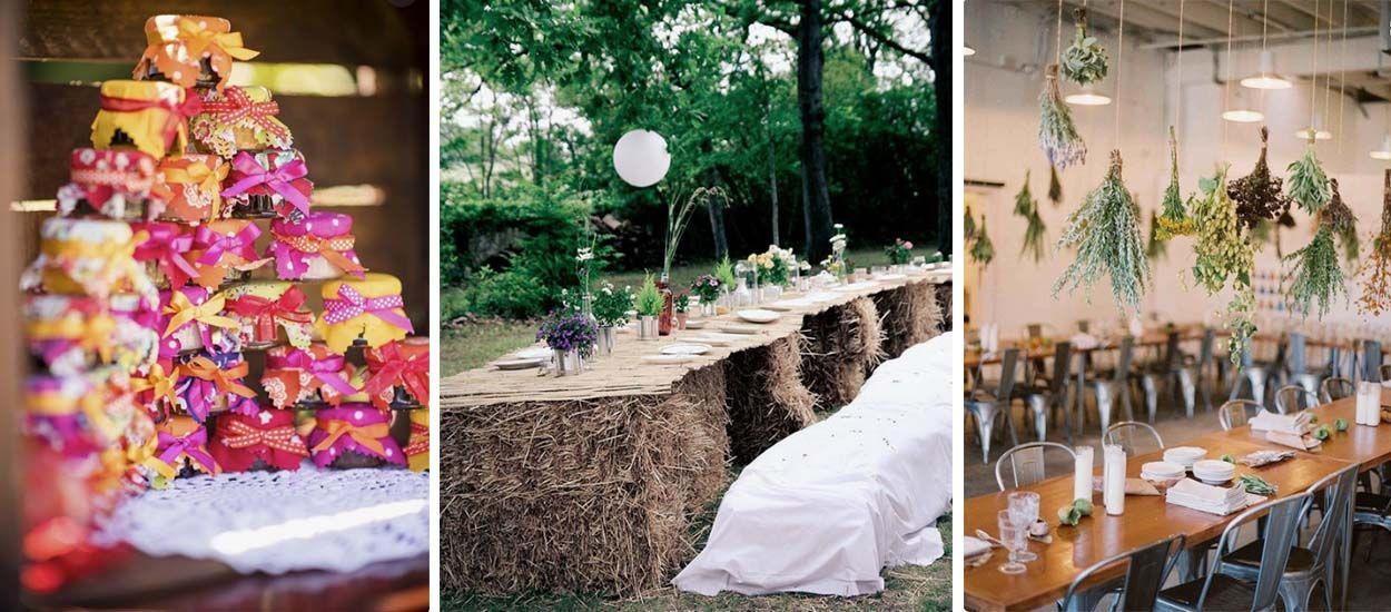10 idées déco pour un mariage écolo et champêtre
