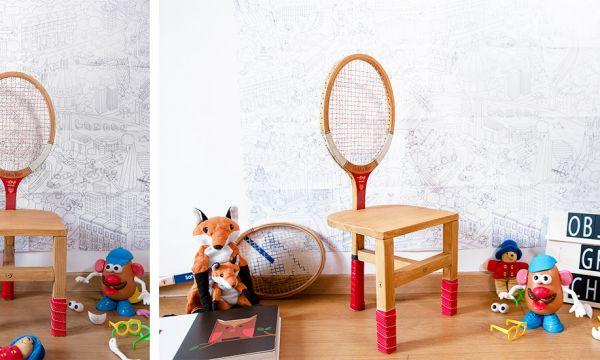 Tuto : Fabriquez une chaise pour enfant vintage avec une raquette de tennis