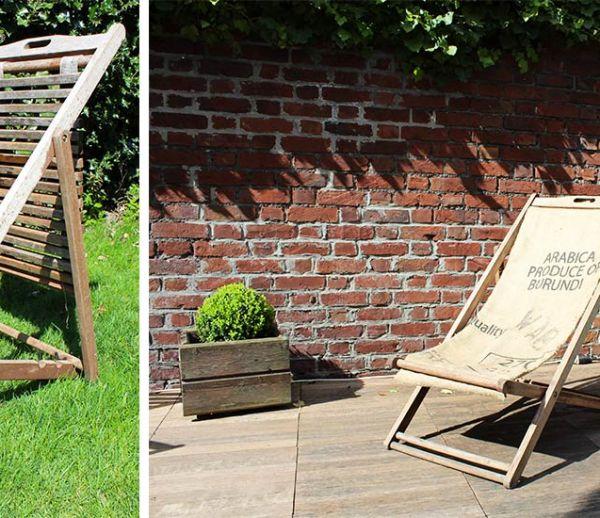 Tuto : Rénovez votre chaise longue avec un sac en toile de jute pour moins de 20 euros