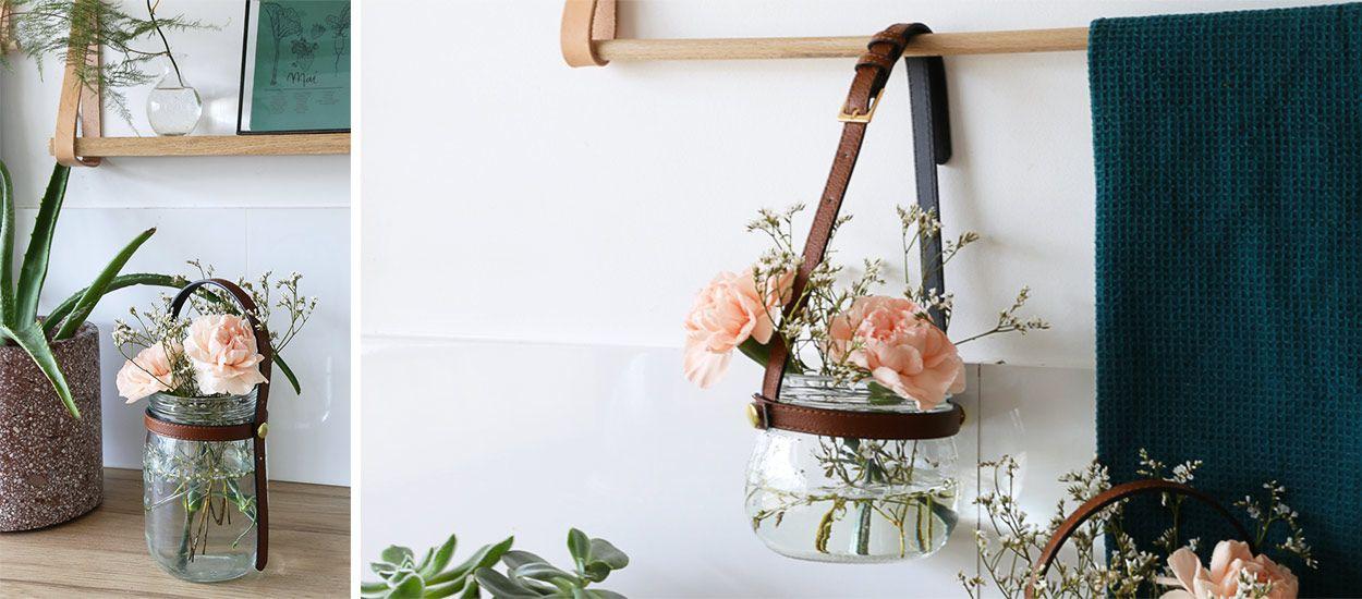 Tuto : Fabriquez un vase 100% récup avec une vieille ceinture