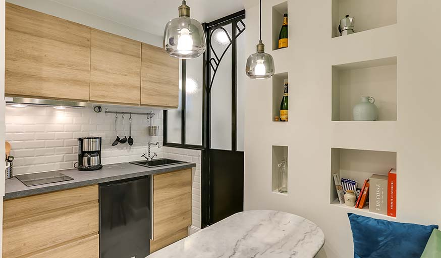 Avant / Après : Une salle de bains dans la cuisine pour remplacer l ...