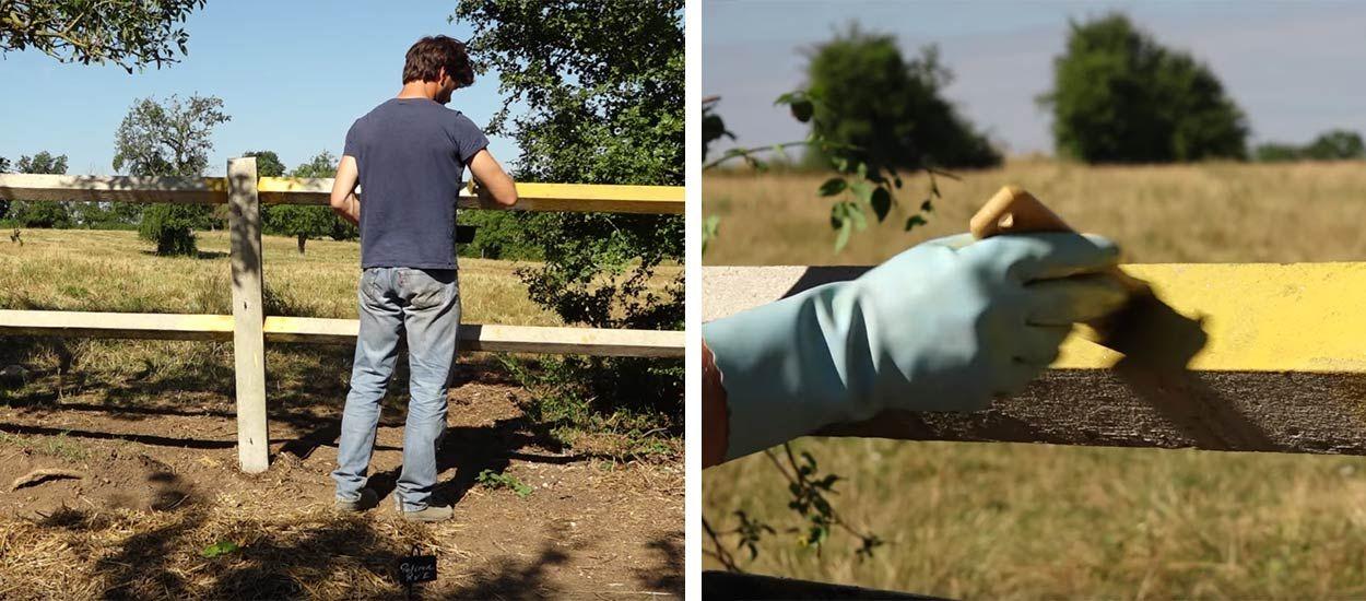 Tuto : Fabriquez votre peinture écolo à la chaux pour peindre barrières et murs extérieurs