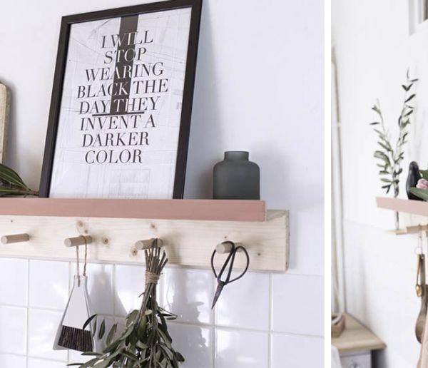 Tuto : Pour 20 euros, créez une étagère murale en bois idéale pour votre cuisine !
