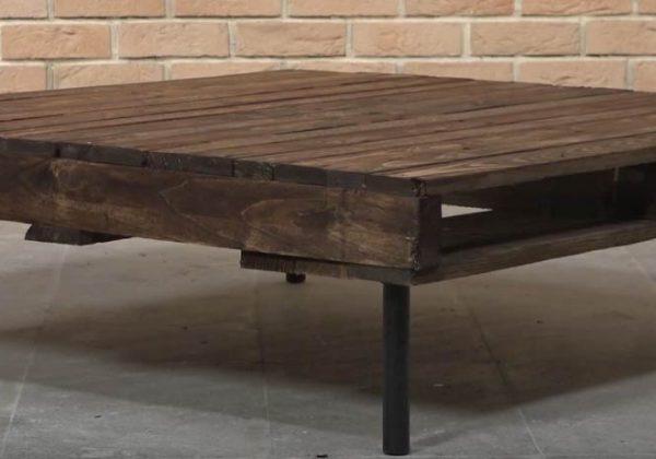 DIY pour fabriquer une table basse en palette pour 30 euros