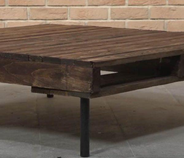 Tuto : Fabriquer une table basse en palette dans un style industriel