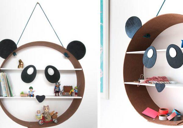 DIY étagère panda pas chère pour une décoration chambre fille ou garçon