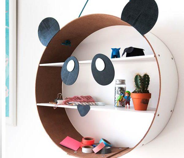 Tuto : Fabriquez une belle étagère panda à 10 euros pour vos enfants