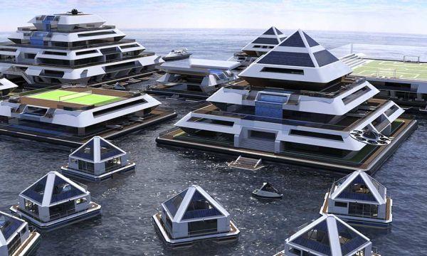 Chambres sous-marines, stade flottant et toboggans : on rêve de vivre dans cette ville au milieu de l'océan