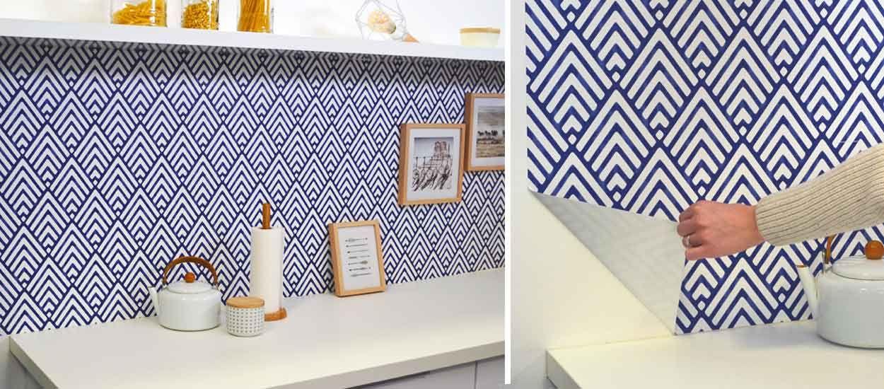 comment poser du papier peint facilement avec le papier peint adh sif. Black Bedroom Furniture Sets. Home Design Ideas