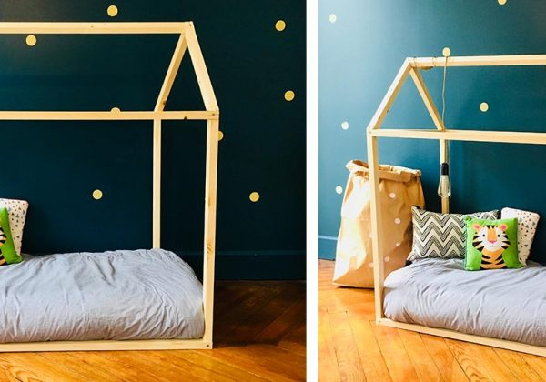 DIY pour fabriquer un lit cabane pour vos enfant, et pas cher !
