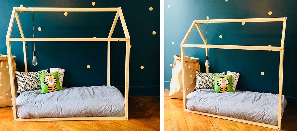 diy pour fabriquer un lit cabane pour vos enfant et pas cher. Black Bedroom Furniture Sets. Home Design Ideas