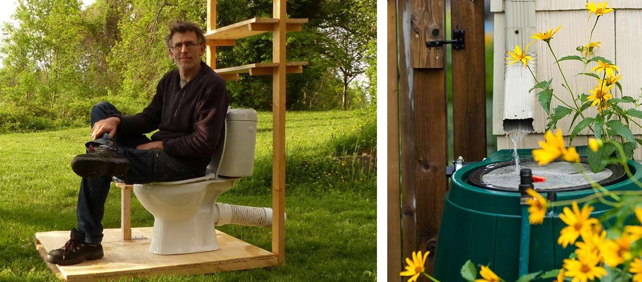 Ce bricoleur a trouvé un système ingénieux pour utiliser l'eau de pluie dans les toilettes