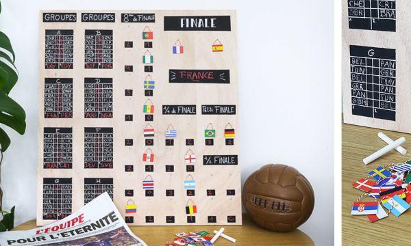 Tuto : fabriquez un tableau de match pour célébrer entre amis la Coupe du monde !