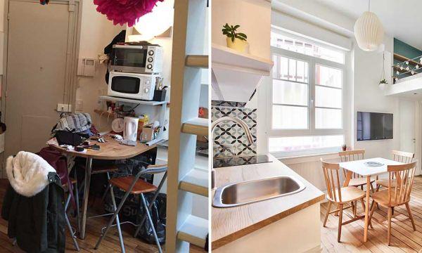 Avant / Après : Un studio vieillot de 20 m2 devenu hyper fonctionnel et moderne
