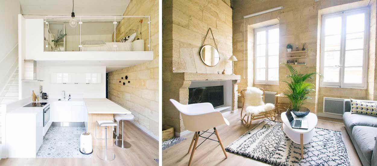 avant apr s r novation d 39 un duplex avec mezzanine et cuisine ouverte. Black Bedroom Furniture Sets. Home Design Ideas