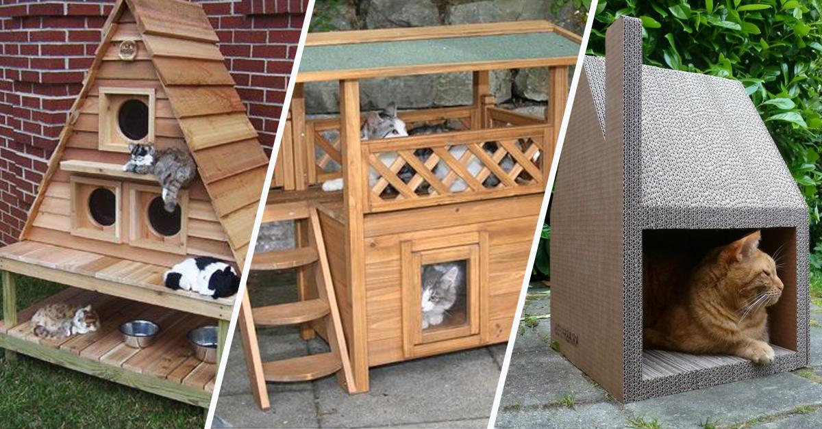 14 id es de cabanes pour chat qui feront des ravis. Black Bedroom Furniture Sets. Home Design Ideas
