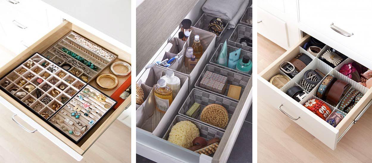 11 astuces pour optimiser organiser et trier vos tiroirs. Black Bedroom Furniture Sets. Home Design Ideas