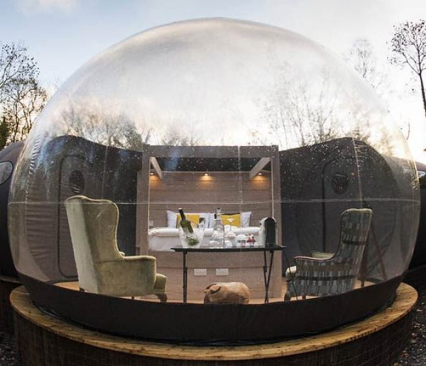 Déconnectez-vous le temps d'une nuit dans une chambre bulle sans Wi-Fi ni téléphone