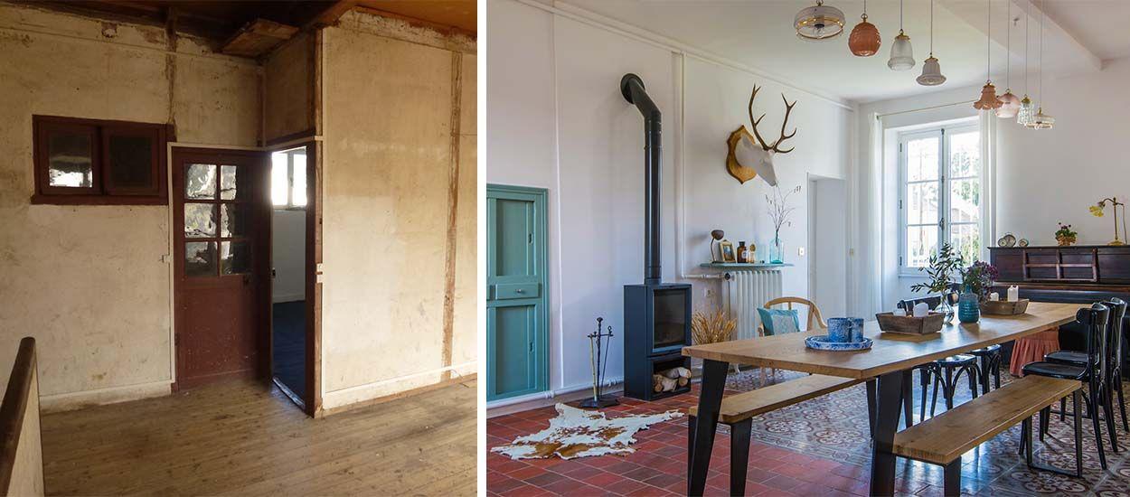 Avant / Après : Une ancienne maison de ferme transformée en magnifique demeure de charme