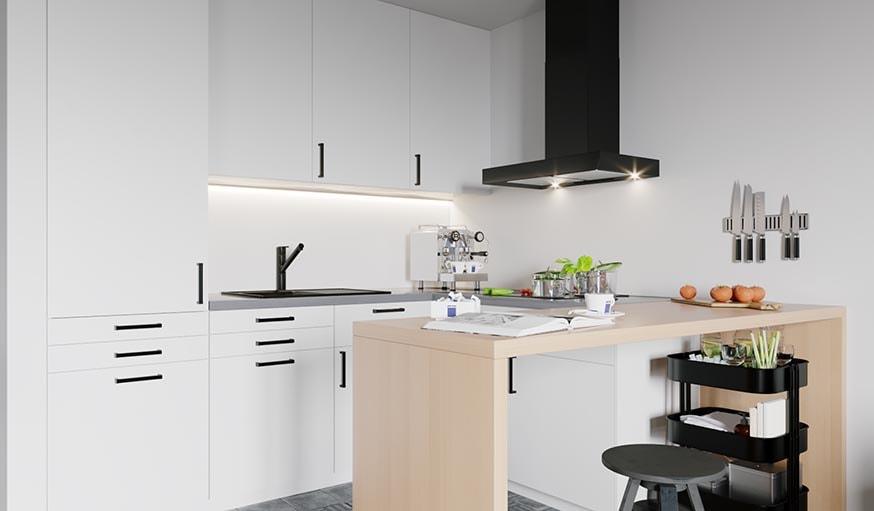 16 id es d co tendance pour une cuisine noire ou blanche - Cuisine design noir et blanche ...