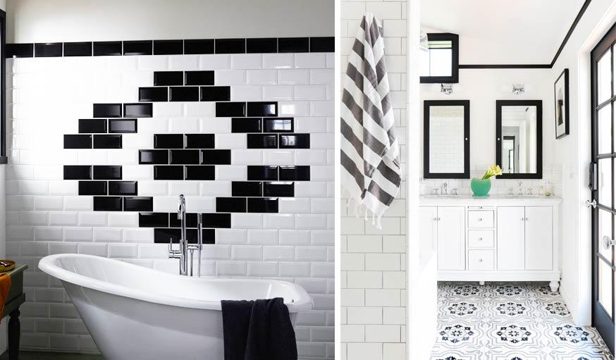 Inspiration Deco Le Noir Et Blanc Pour La Salle De Bains En 16
