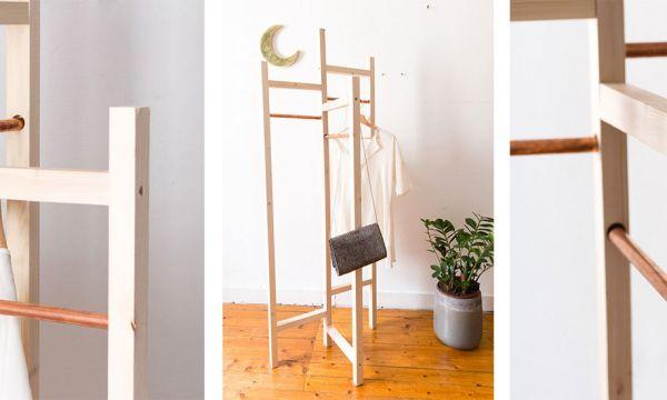 Tuto : Fabriquez un portant à vêtements hyper tendance pour 20 euros