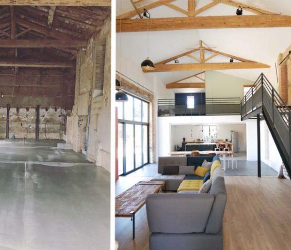Avant / Après : Ils ont transformé cette grange en loft mêlant style industriel et charme de la campagne