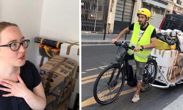J'ai déménagé à vélo pour être écolo et c'était plus facile que ce que je pensais