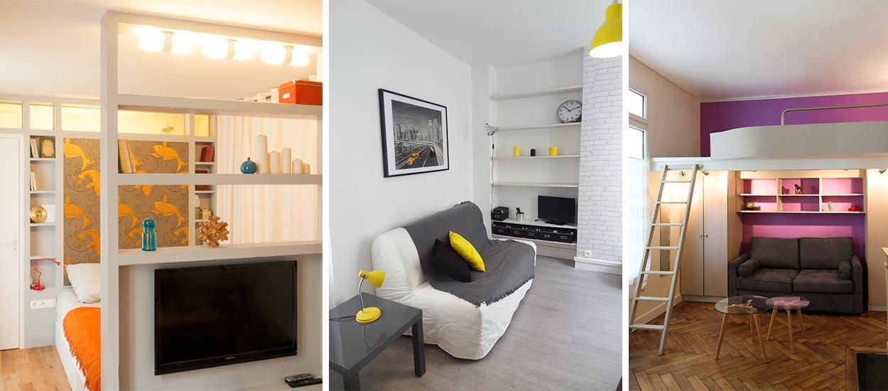 Idées pour aménager un petit studio de 20m2 dans le salon ou ...