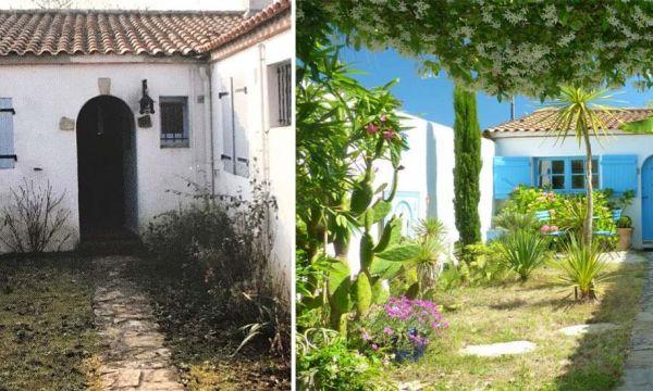 Avant / Après : Il a transformé un jardin abandonné en oasis verdoyante