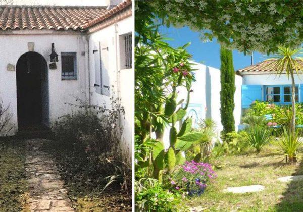 Exemple d\'un jardin avec des plantes exotiques à Noirmoutier