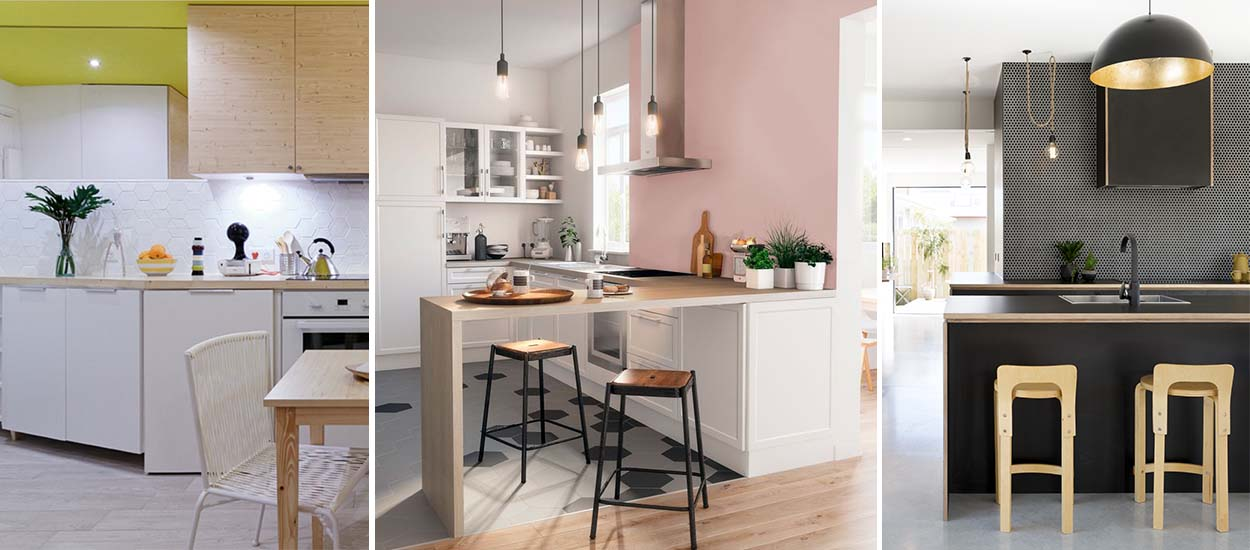 toutes les tendances de peinture pour la cuisine 2018. Black Bedroom Furniture Sets. Home Design Ideas