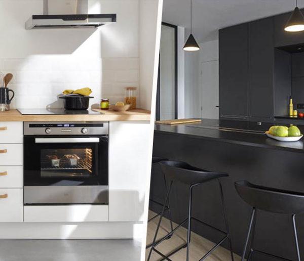 Total look noir ou blanc : 18 inspirations pour une cuisine élégante