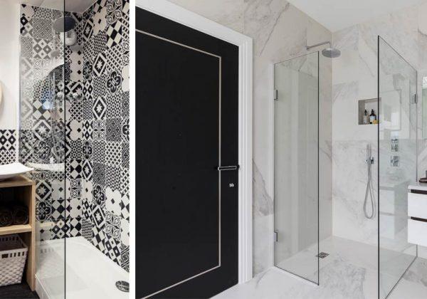 Le noir et blanc pour la salle de bains : modernité et ...