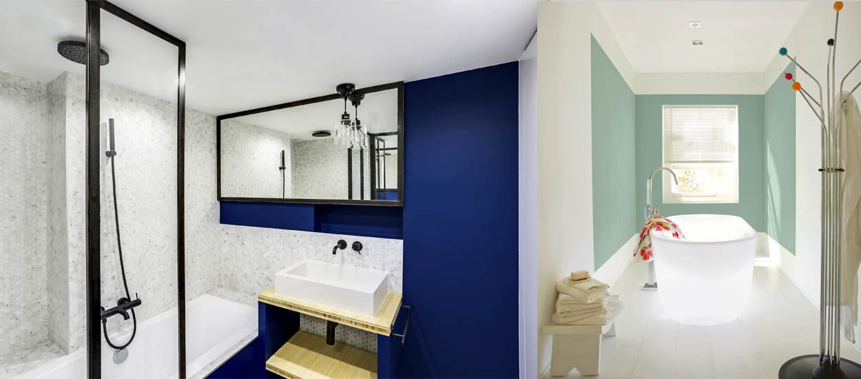 besoin d 39 id es de couleurs pour votre salle de bains voici les peintures tendances. Black Bedroom Furniture Sets. Home Design Ideas