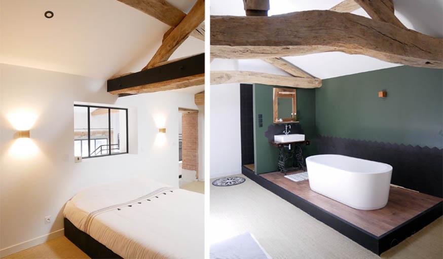 avant apr s ils ont transform cette grange en loft m lant style industriel et charme de la. Black Bedroom Furniture Sets. Home Design Ideas