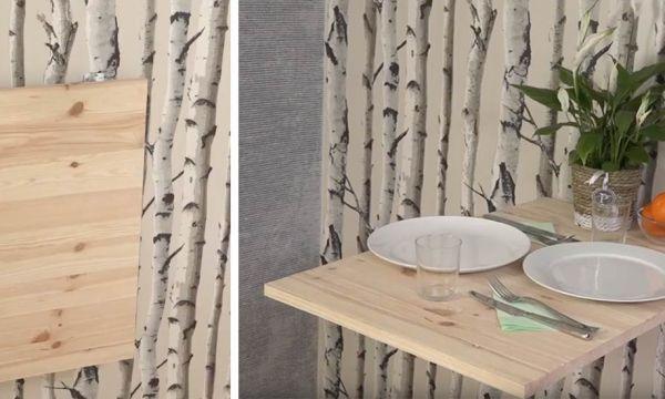 Tuto : Fabriquez une petite table escamotable pour gagner de la place !