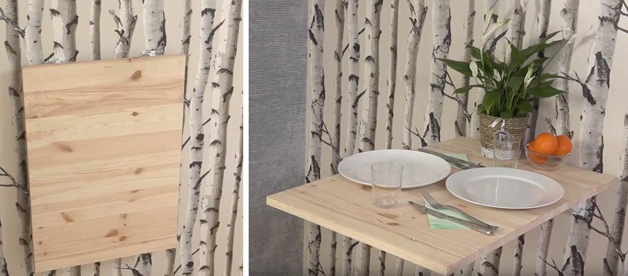 Optimiser L Espace De La Cuisine En Fabriquant Une Table Murale Rabattable