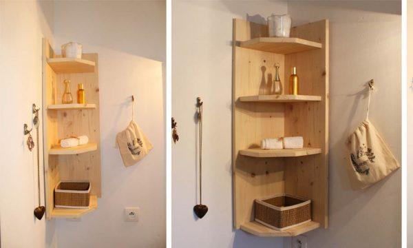 Tuto : Fabriquez une jolie étagère d'angle en bois pour seulement 25 euros